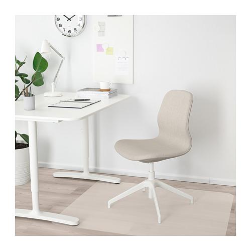 LÅNGFJÄLL - 辦公椅, Gunnared 米黃色/白色 | IKEA 香港及澳門 - PE671235_S4