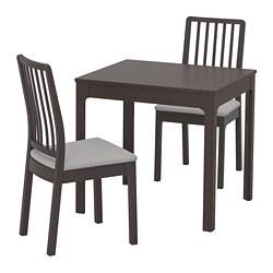 EKEDALEN/EKEDALEN - 一檯兩椅, 深褐色/Orrsta 淺灰色 | IKEA 香港及澳門 - PE720808_S3