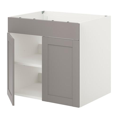 ENHET - 爐用地櫃連門, 白色/灰色 框架   IKEA 香港及澳門 - PE816014_S4