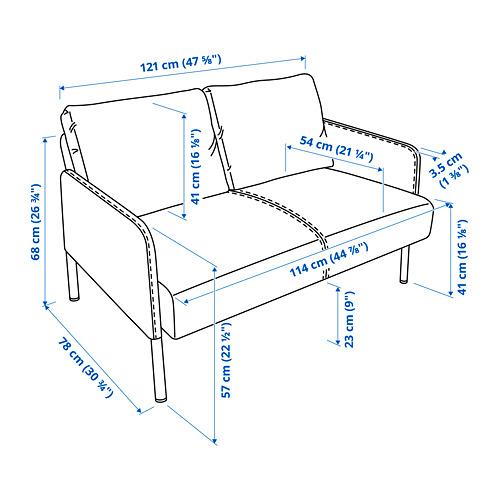 GLOSTAD - 2-seat sofa, Knisa medium blue   IKEA Hong Kong and Macau - PE816016_S4