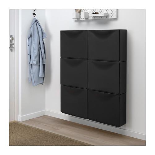 TRONES - 鞋櫃/貯物櫃, 黑色 | IKEA 香港及澳門 - PE671315_S4