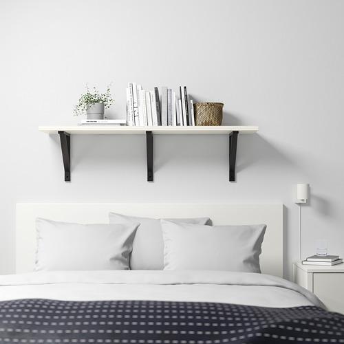 EKBY VALTER/BERGSHULT - 層板, 白色/黑色   IKEA 香港及澳門 - PE720837_S4
