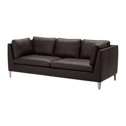 STOCKHOLM - 三座位梳化, Seglora 深褐色 | IKEA 香港及澳門 - PE334808_S3
