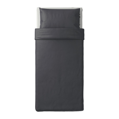PUDERVIVA - 被套枕袋套裝, 深灰色, 150x200/50x80 cm  | IKEA 香港及澳門 - PE621004_S4