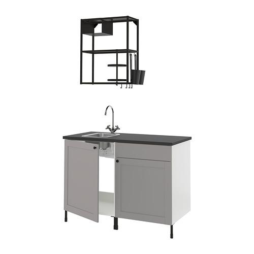 ENHET - 廚房, 炭黑色/灰色 框架   IKEA 香港及澳門 - PE816108_S4