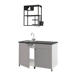 ENHET - kitchen, anthracite/grey frame | IKEA Hong Kong and Macau - PE816110_S3