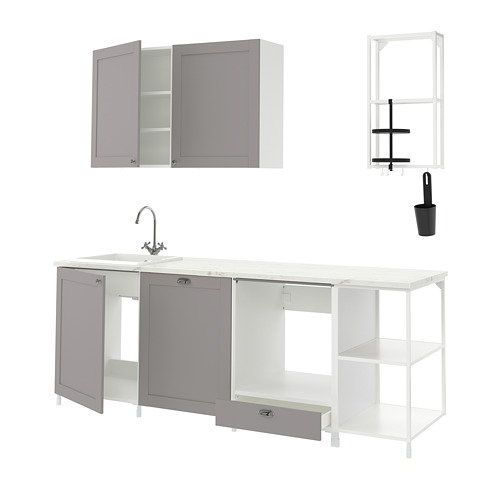 ENHET - 廚房, 白色/灰色 框架   IKEA 香港及澳門 - PE816120_S4