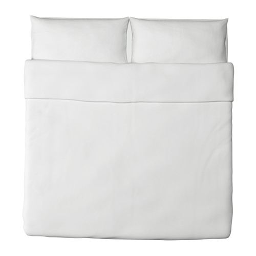 DVALA - 被套連2個枕袋, 白色, 240x220/50x80 cm  | IKEA 香港及澳門 - PE224806_S4
