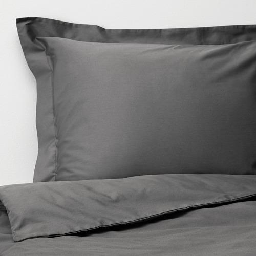 LUKTJASMIN - 被套枕袋套裝, 深灰色, 150x200/50x80 cm  | IKEA 香港及澳門 - PE721367_S4