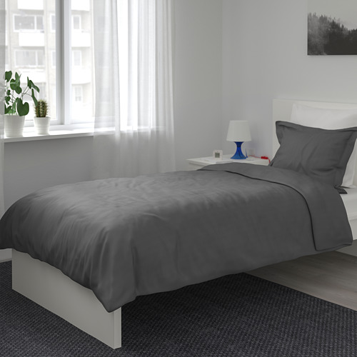 LUKTJASMIN - 被套枕袋套裝, 深灰色, 150x200/50x80 cm  | IKEA 香港及澳門 - PE721365_S4