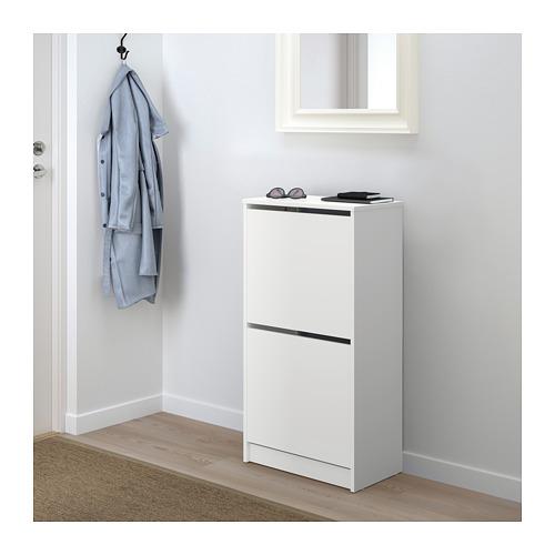 BISSA - 兩格鞋櫃, 白色 | IKEA 香港及澳門 - PE671326_S4