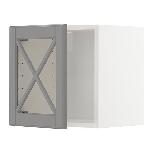 METOD - wall cabinet with glass door, white/Bodbyn grey | IKEA Hong Kong and Macau - PE671359_S4