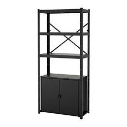 BROR - 層架組合連貯物櫃, 85x40x190 cm, 黑色   IKEA 香港及澳門 - PE721047_S3