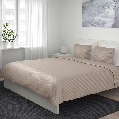 NATTJASMIN - 被套連2個枕袋, 淺米黃色, 200x200/50x80 cm   IKEA 香港及澳門 - PE712031_S4