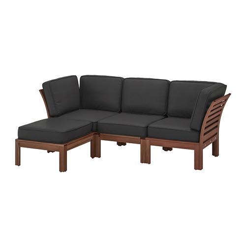 ÄPPLARÖ 3-seat modular sofa, outdoor