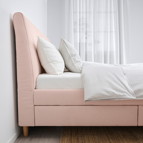 IDANÄS - 特大雙人儲物床, Gunnared 淡粉紅色   IKEA 香港及澳門 - PE816229_S4