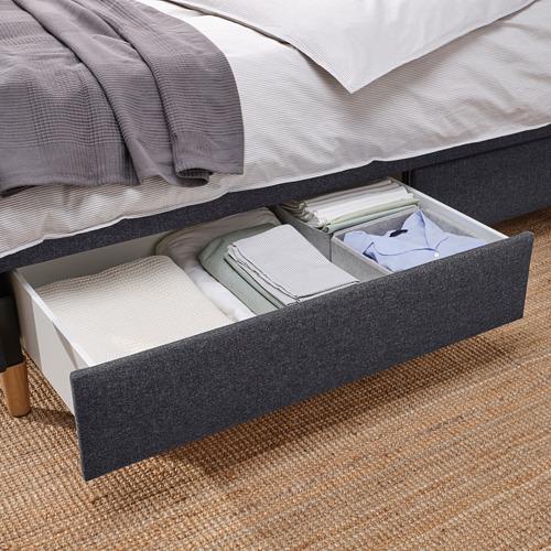 IDANÄS - 特大雙人儲物床, Gunnared 深灰色 | IKEA 香港及澳門 - PE816230_S4