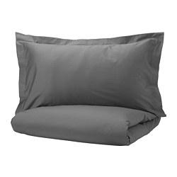 LUKTJASMIN - quilt cover and 2 pillowcases, dark grey, 200x200/50x80 cm  | IKEA Hong Kong and Macau - PE721362_S3