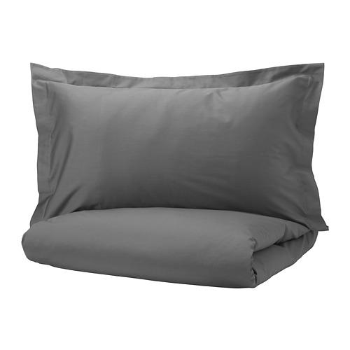 LUKTJASMIN - 被套枕袋套裝, 深灰色, 150x200/50x80 cm  | IKEA 香港及澳門 - PE721362_S4