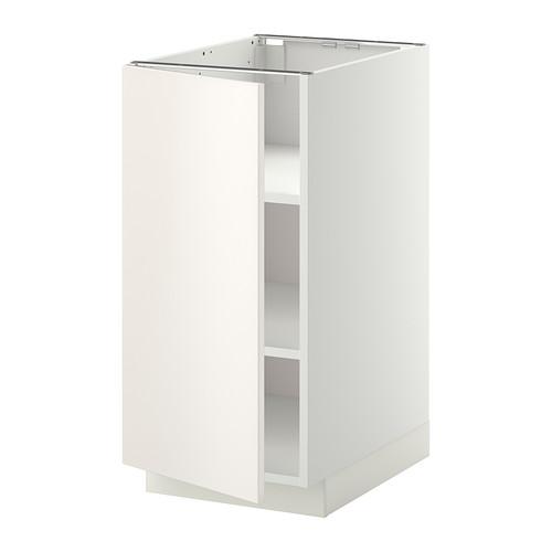 METOD - base cabinet with shelves, white/Veddinge white | IKEA Hong Kong and Macau - PE336122_S4