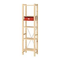 IVAR - 1 section/shelves/drawers, pine/red | IKEA Hong Kong and Macau - PE761791_S3