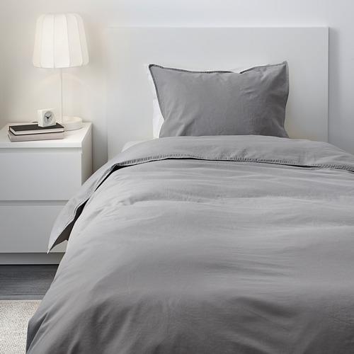 ÄNGSLILJA - 被套枕袋套裝, 灰色, 150x200/50x80 cm    IKEA 香港及澳門 - PE606218_S4