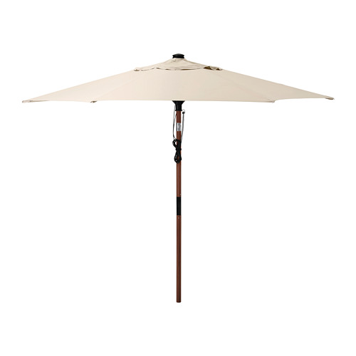 BETSÖ/LINDÖJA - 太陽傘, 褐色 木紋/米黃色 | IKEA 香港及澳門 - PE761827_S4