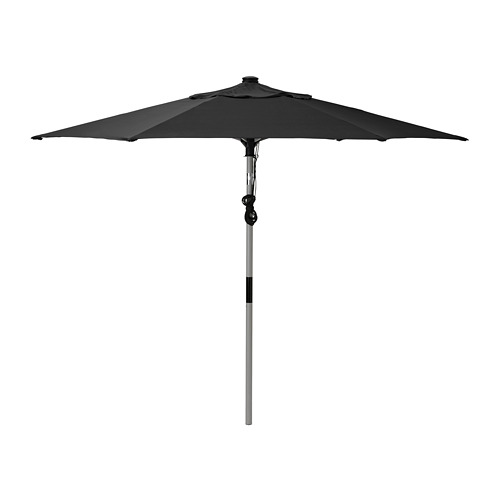 LINDÖJA/BETSÖ - parasol, grey wood effect/black | IKEA Hong Kong and Macau - PE761828_S4