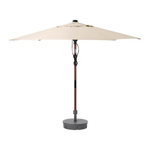 LINDÖJA/BETSÖ - parasol with base, brown wood effect black/Grytö | IKEA Hong Kong and Macau - PE761830_S4