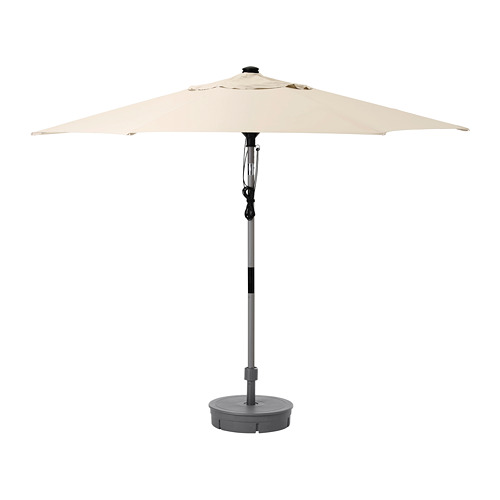LINDÖJA/BETSÖ - 太陽傘連底座, grey wood effect beige/Grytö | IKEA 香港及澳門 - PE761835_S4