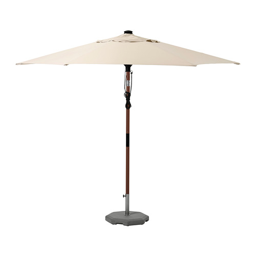 LINDÖJA/BETSÖ - parasol with base, brown wood effect black/Grytö | IKEA Hong Kong and Macau - PE761842_S4