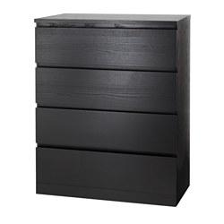 MALM - 四格抽屜櫃, 棕黑色 | IKEA 香港及澳門 - PE621355_S3