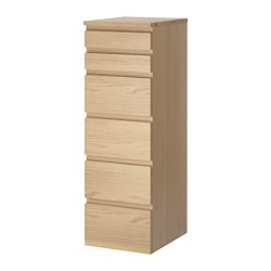 MALM - chest of 6 drawers, white stained oak veneer/mirror glass | IKEA Hong Kong and Macau - PE621350_S3