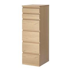 MALM - 六格抽屜櫃, 染白橡木飾面/鏡面玻璃 | IKEA 香港及澳門 - PE621350_S3