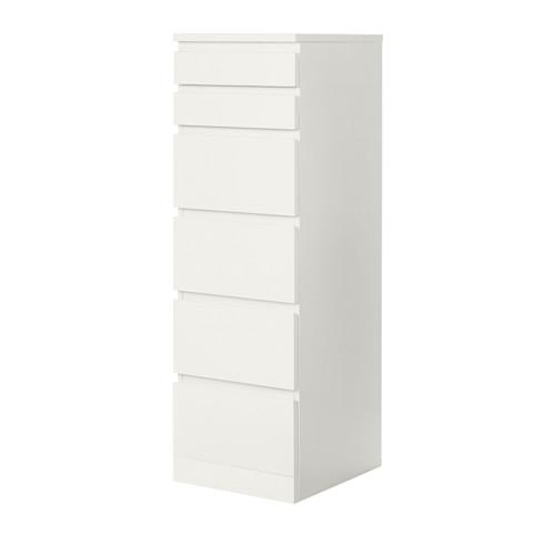 MALM - chest of 6 drawers, white/mirror glass   IKEA Hong Kong and Macau - PE621351_S4