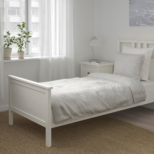 BERGPALM - quilt cover and pillowcase, grey/stripe, 150x200/50x80 cm  | IKEA Hong Kong and Macau - PE692790_S4