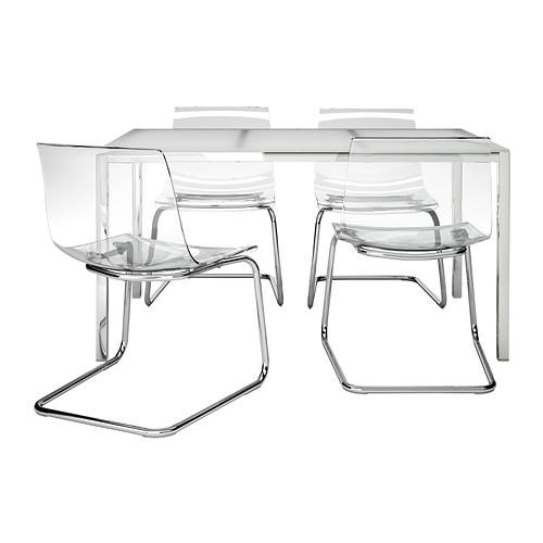 TORSBY/TOBIAS - table and 4 chairs, white/transparent | IKEA Hong Kong and Macau - PE336832_S4
