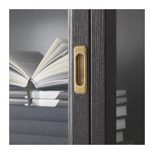 MALSJÖ - glass-door cabinet, black stained   IKEA Hong Kong and Macau - PE560329_S4