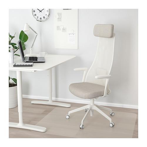 JÄRVFJÄLLET - office chair with armrests, Gunnared beige/white   IKEA Hong Kong and Macau - PE721309_S4