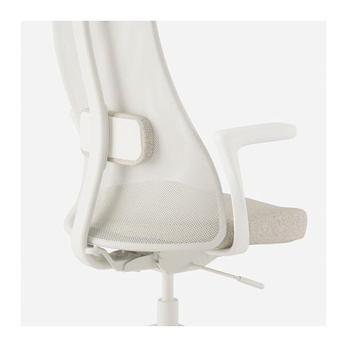 JÄRVFJÄLLET - office chair with armrests, Gunnared beige/white   IKEA Hong Kong and Macau - PE721312_S4