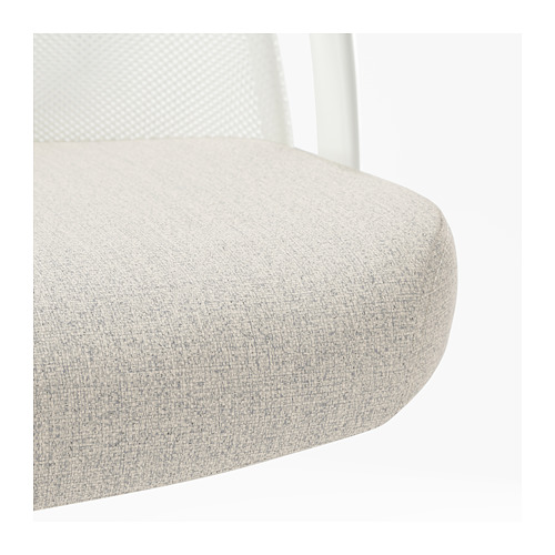 JÄRVFJÄLLET - office chair with armrests, Gunnared beige/white   IKEA Hong Kong and Macau - PE721311_S4