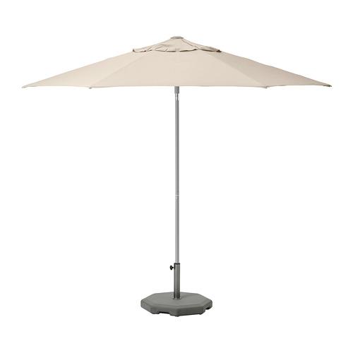 LINDÖJA/KUGGÖ - parasol with base, beige/Huvön dark grey | IKEA Hong Kong and Macau - PE761947_S4