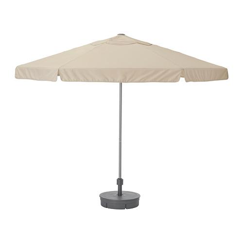 KUGGÖ/VÅRHOLMEN parasol with base