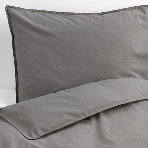 ÄNGSLILJA - 被套枕袋套裝, 灰色, 150x200/50x80 cm    IKEA 香港及澳門 - PE575540_S4