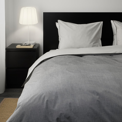 BLÅVINDA 被套枕袋套裝, 灰色, 150x200/50x80 cm
