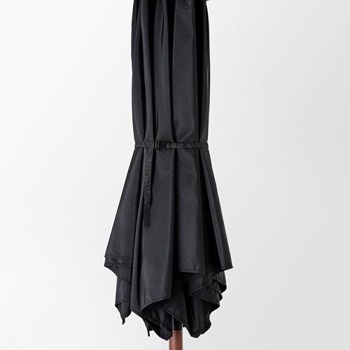 LINDÖJA/BETSÖ - parasol with base, brown wood effect black/Grytö | IKEA Hong Kong and Macau - PE762019_S4