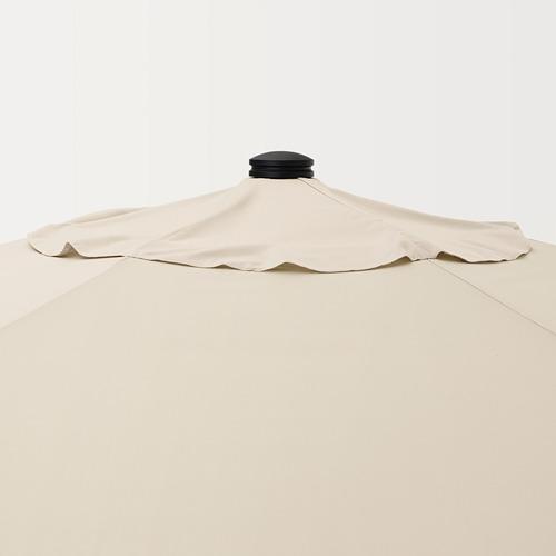 BETSÖ/LINDÖJA - 太陽傘, 褐色 木紋/米黃色 | IKEA 香港及澳門 - PE762011_S4