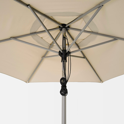 LINDÖJA/BETSÖ - 太陽傘連底座, grey wood effect beige/Grytö | IKEA 香港及澳門 - PE762013_S4