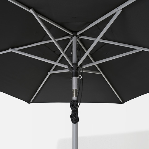 LINDÖJA/BETSÖ - parasol, grey wood effect/black | IKEA Hong Kong and Macau - PE762014_S4