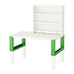PÅHL - desk with shelf unit, white/green | IKEA Hong Kong and Macau - PE558632_S3